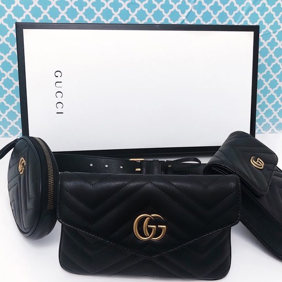 2132d37d3521c1 Gucci Bags | Gg Marmont Quilted Leather Belt Bag | Poshmark